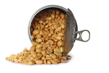 Can of salted peanuts