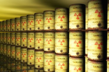 tins of nuclear waste