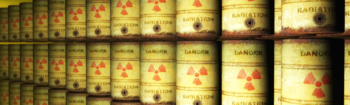 Cans of nuclear waste